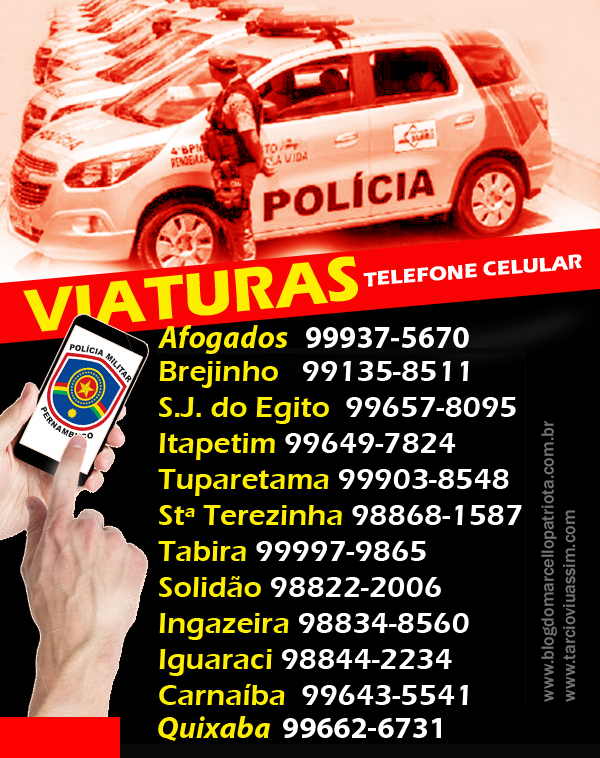 TELEFONES DE VIATURAS